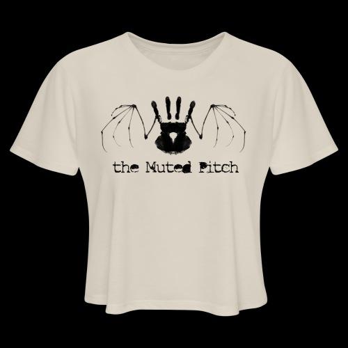tMP Black Bat - Women's Cropped T-Shirt