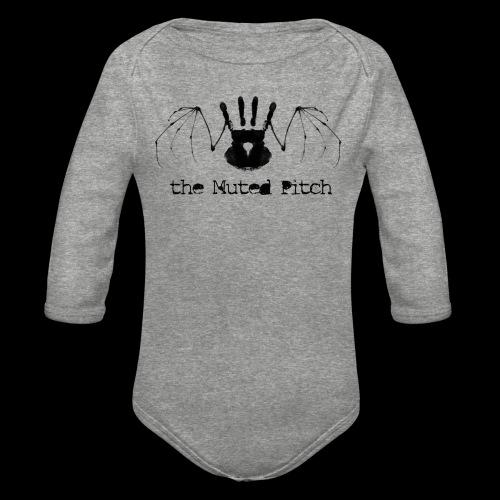 tMP Black Bat - Organic Long Sleeve Baby Bodysuit