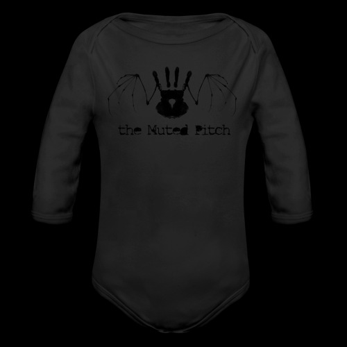 tMP Black Bat - Organic Long Sleeve Baby Bodysuit