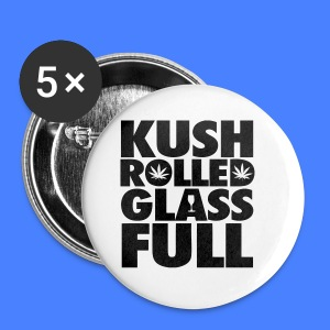 Kush Rolled Glass Full Phone & Tablet Covers - Small Buttons