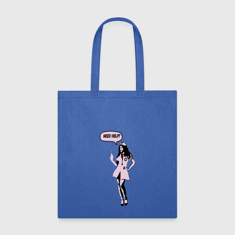 Pop Art Nurse Need Help? Bags & backpacks - Tote Bag