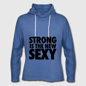 Strong Is The New Sexy Tanks - Unisex Lightweight Terry Hoodie
