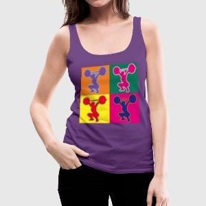 weightlifting pop art - Women's Premium Tank Top