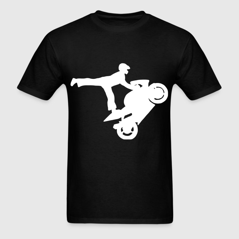 Motorcycle Wheelie - Men's T-Shirt