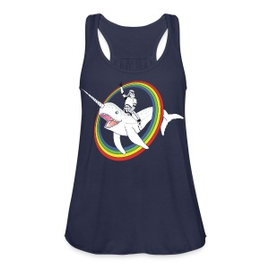Narwhal Rainbow Stormtrooper - Women's Flowy Tank Top by Bella