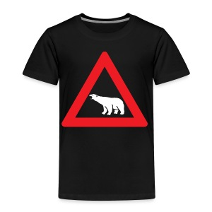 Polar Bear Road Sign - Toddler Premium T-Shirt
