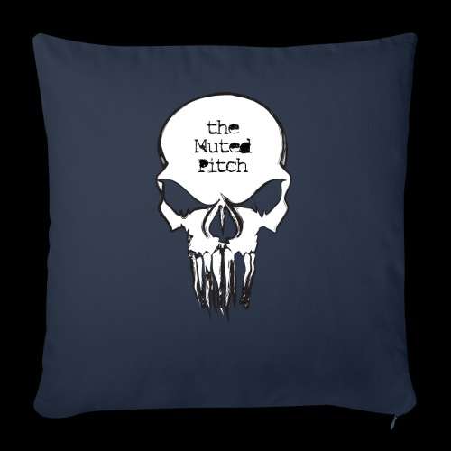 "tMP Sketched Skull - Throw Pillow Cover 18"" x 18"""