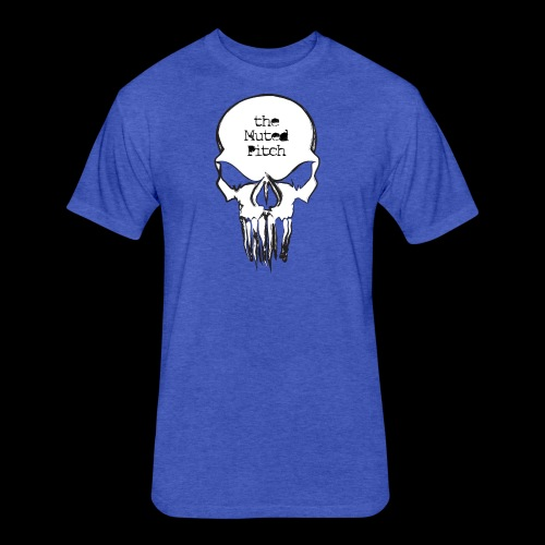 tMP Sketched Skull - Fitted Cotton/Poly T-Shirt by Next Level