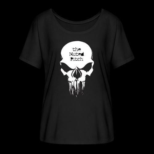 tMP Sketched Skull - Women's Flowy T-Shirt