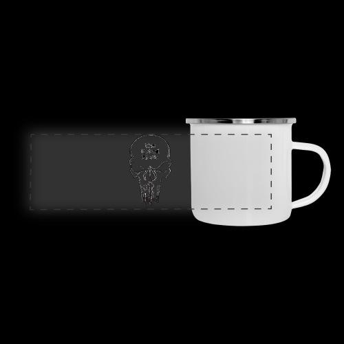 tMP Sketched Skull - Panoramic Camper Mug
