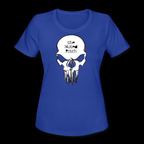 tMP Sketched Skull - Women's Moisture Wicking Performance T-Shirt