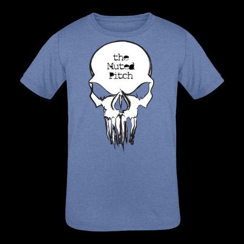 tMP Sketched Skull - Kids' Tri-Blend T-Shirt