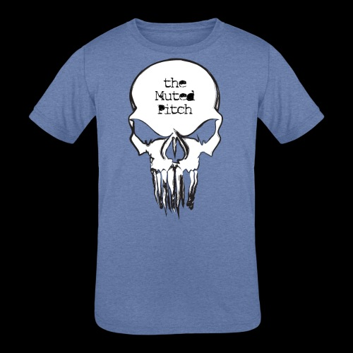 tMP Sketched Skull - Kids' Tri-Blend T-Shirt