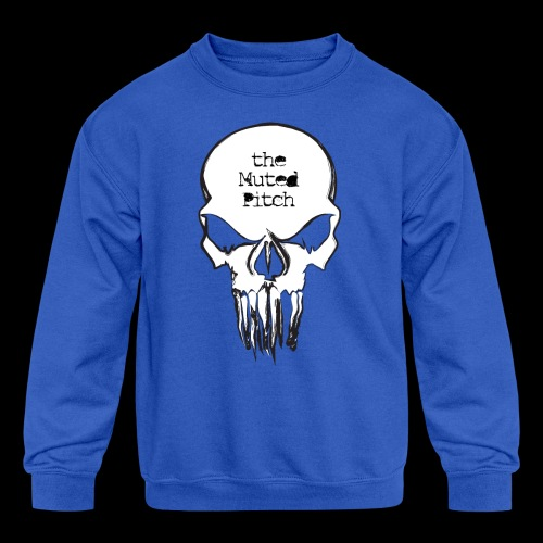 tMP Sketched Skull - Kids' Crewneck Sweatshirt