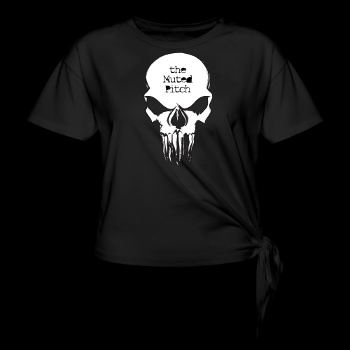 tMP Sketched Skull - Women's Knotted T-Shirt