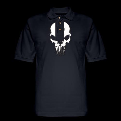 tMP Sketched Skull - Men's Pique Polo Shirt