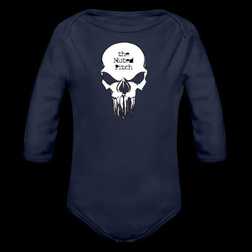 tMP Sketched Skull - Organic Long Sleeve Baby Bodysuit