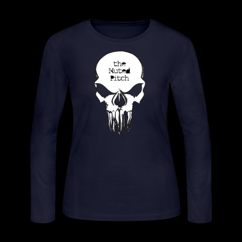 tMP Sketched Skull - Women's Long Sleeve Jersey T-Shirt