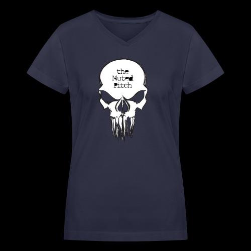 tMP Sketched Skull - Women's V-Neck T-Shirt