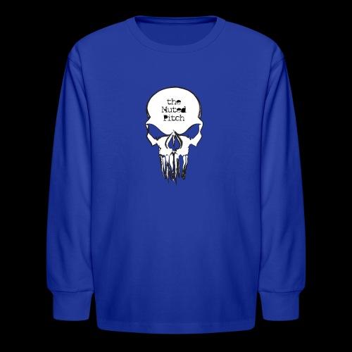 tMP Sketched Skull - Kids' Long Sleeve T-Shirt