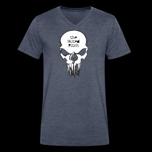 tMP Sketched Skull - Men's V-Neck T-Shirt by Canvas