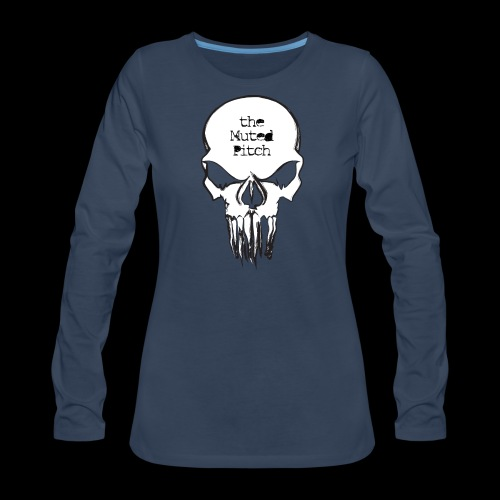 tMP Sketched Skull - Women's Premium Long Sleeve T-Shirt