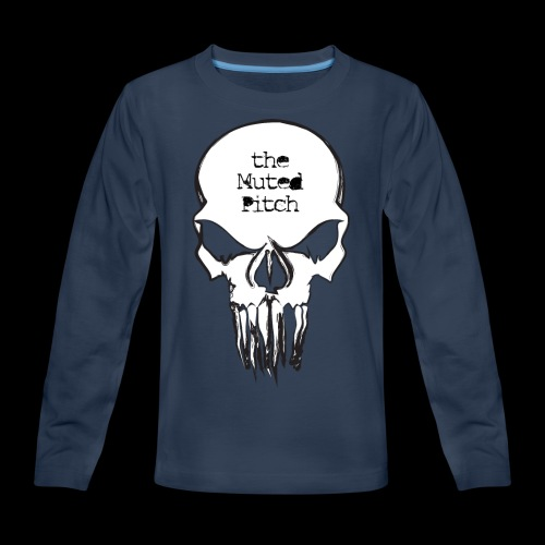 tMP Sketched Skull - Kids' Premium Long Sleeve T-Shirt
