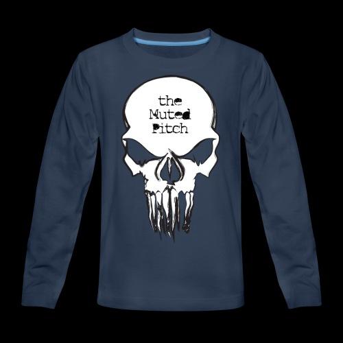 tMP Sketched Skull - Kids' Premium Long Sleeve T-Shirt