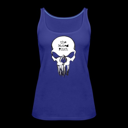 tMP Sketched Skull - Women's Premium Tank Top
