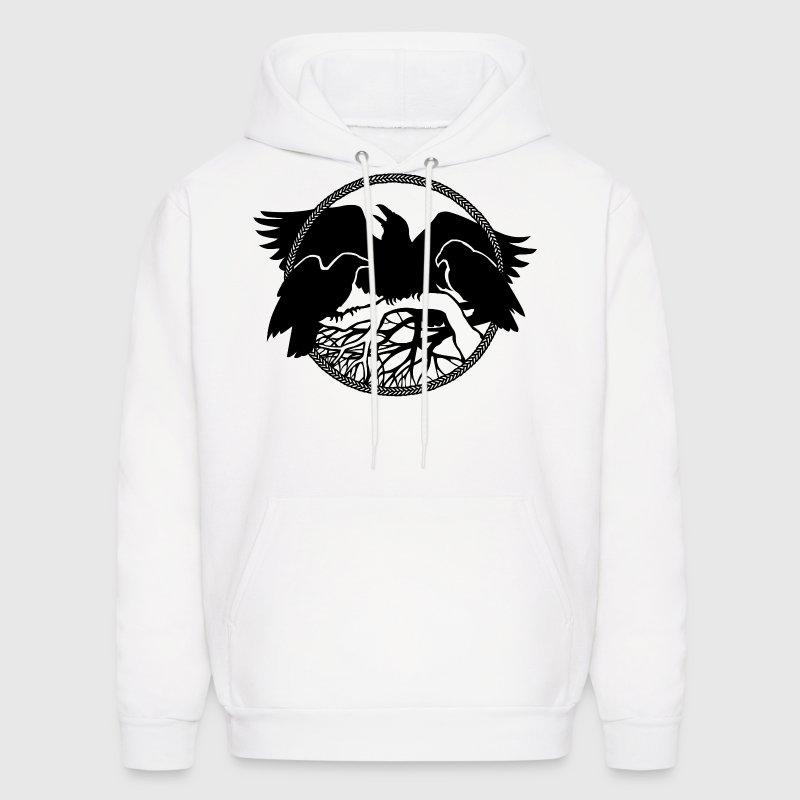 raven art gift spirit animal native crow art shirt Hoodies - Men's Hoodie