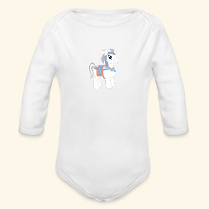 Arabian To the North Pony - Long Sleeve Baby Bodysuit