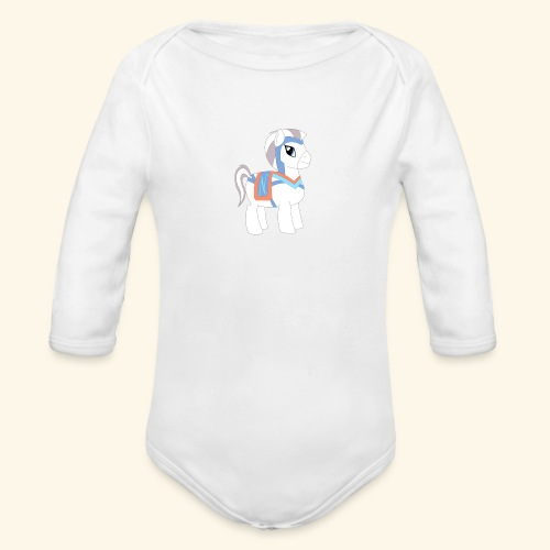 Arabian To the North Pony - Organic Long Sleeve Baby Bodysuit