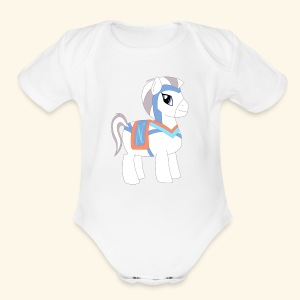 Arabian To the North Pony - Short Sleeve Baby Bodysuit