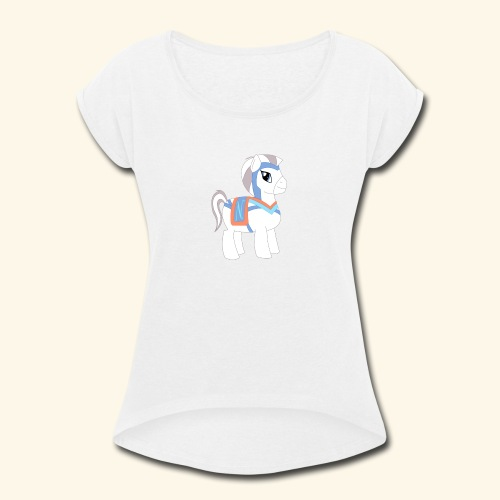 Arabian To the North Pony - Women's Roll Cuff T-Shirt