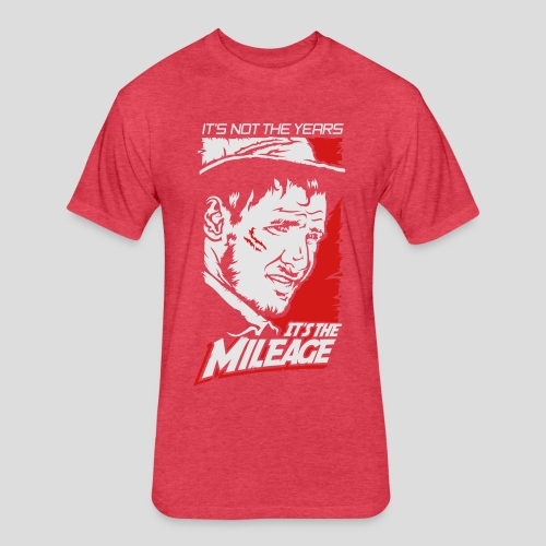 Indiana Jones: It's the Mileage - Fitted Cotton/Poly T-Shirt by Next Level