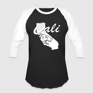 CALI Bear Map Hoodies - Baseball T-Shirt