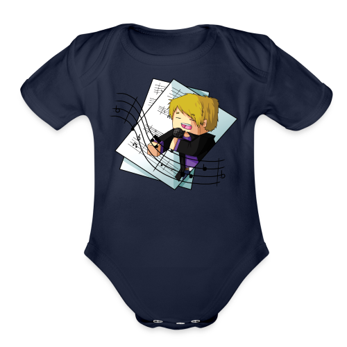 Sing with me! - Organic Short Sleeve Baby Bodysuit