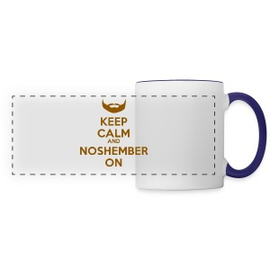 Noshember Keep Calm Button - Panoramic Mug