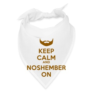 Noshember Keep Calm Button - Bandana