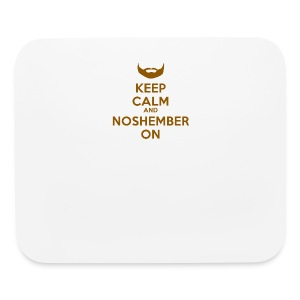 Noshember Keep Calm Button - Mouse pad Horizontal