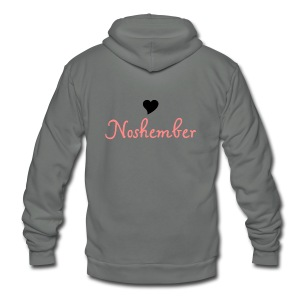 Noshember.com Heart Noshember - Unisex Fleece Zip Hoodie by American Apparel