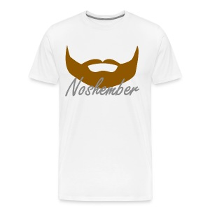 Bearded Hoodie - Noshember - Men's Premium T-Shirt