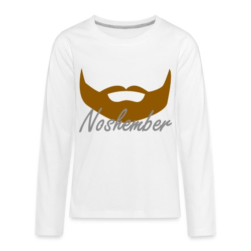 Bearded Hoodie - Noshember - Kids' Premium Long Sleeve T-Shirt