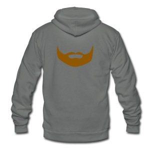 Noshember beard bandana - Unisex Fleece Zip Hoodie by American Apparel