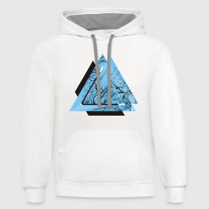 AD triangle black - Contrast Hoodie