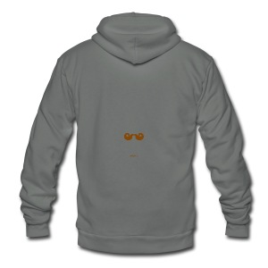 Mustache Mug - Unisex Fleece Zip Hoodie by American Apparel
