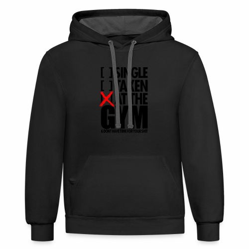 AT THE GYM - Contrast Hoodie