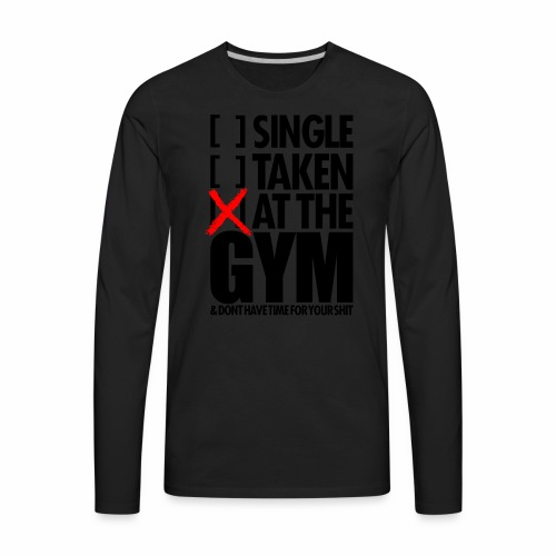 AT THE GYM - Men's Premium Long Sleeve T-Shirt