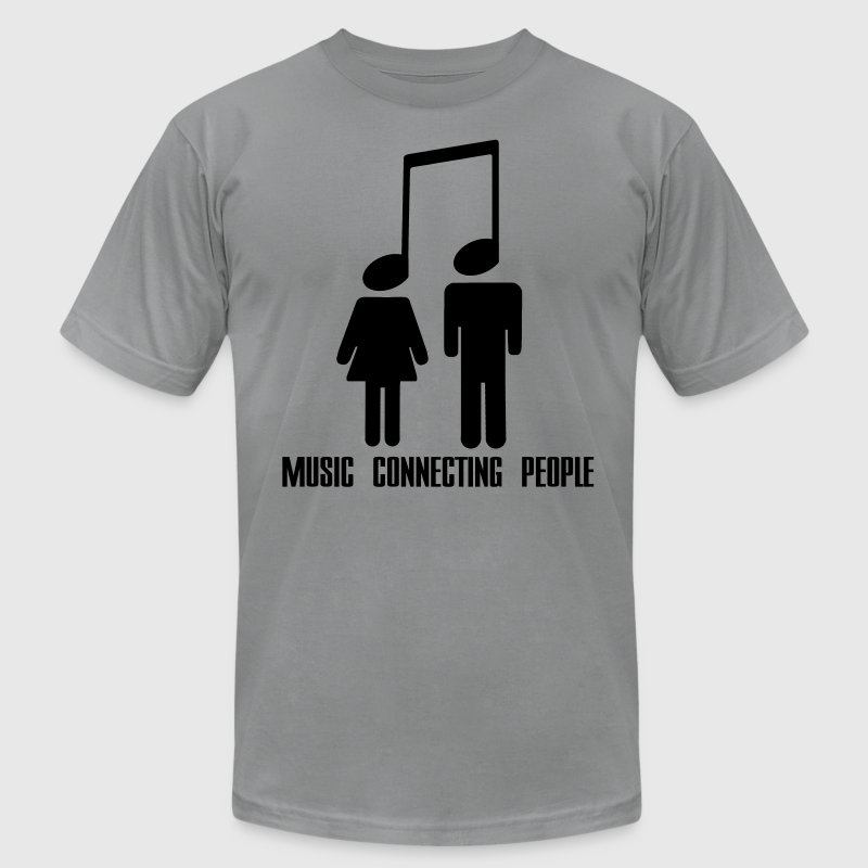 Music Connecting People T-Shirts - Men's T-Shirt by American Apparel
