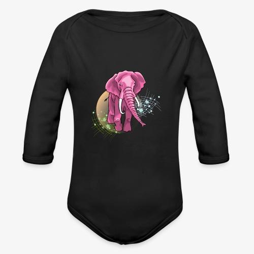 La vie en rose - Organic Long Sleeve Baby Bodysuit